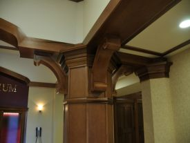 Weight bearing supports, moldings and crown