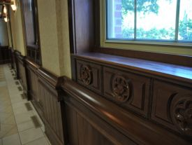 Wainscot, appliques and moldings