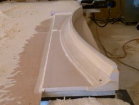 CNC produced custom crown molding