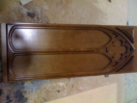 CNC produced gothic panel